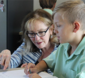 Barbara Arrowsmith Young working with a student